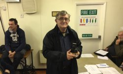 John M0CQV was presented with the Jack Hum trophy for his help with special event stations at the 2017 AGM